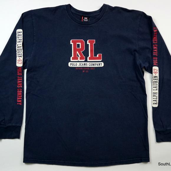 d6754f69 Polo Jeans Company Shirts   Vtg 90s Polo Jeans Co Ralph Lauren Ls ...